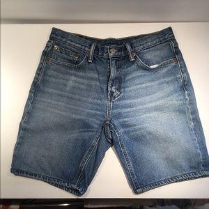 Levi's long shorts in dark wash w30